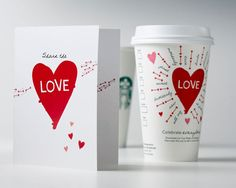 Lovable coffee cup #packaging. Happy #Valentine's Day. PD