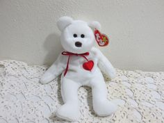 Valentine Beanie Baby 1993-94 Valentino with Hang Tag by LuRuUniques on Etsy