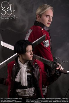 Got your back - Delusor(Damien) Levi, BNaumovski(Borivoje/Ori) Erwin Smith Cosplay Photo - Cure WorldCosplay