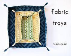 Fabric trays. Less intimidating than making fabric bins.