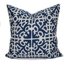 Navy Blue Outdoor Pillow Cover, 20x20, Outdoor Pillows, Outdoor Cushions,  Outdoor Throw Pillow, Stripe Pillow, Outdoor Toss Pillows By PillowCorneru2026