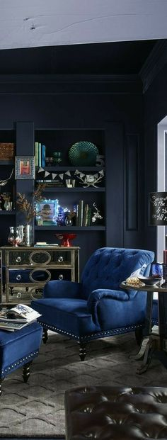 Blue Home Decor, Interior Exterior, African Fashion, Interiors, Africa Fashion, Blue Interiors, African Fashion Style