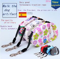 Automatic retractable dog leash dog leash Tactic golden cat rope medium small dogs pet dog leash -- Want to know more, click on the image.