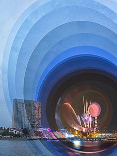 """""""Time is a Dimension"""", de Fong Qi Wei, un photographe basé à Singapour, qui a imaginé ces compositions réunissant les 24 heures d'une journée en une seule photographie grâce à des montages géométriques. Le résultat est une sorte de time-lapse fixe, dévoilant le temps qui passe comme une nouvelle dimension à capturer…"""