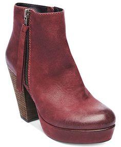 Boots | Chunky Heels | Vintage Feel | Maroon
