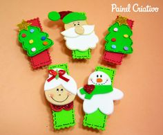 como fazer lembrancinha natal pregadores natalinos papai noel mamae noel arvore de natal boneco de neve (2)