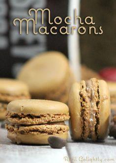 Mocha macarons desserts Recipe with ganache serve instead of pie or buttercream cake