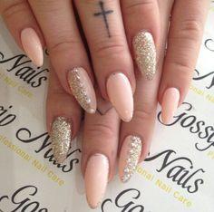 Glitter & pink #nails #nailart