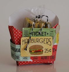 Hamburger Box from Happy Days Collection. #echoparkpaper
