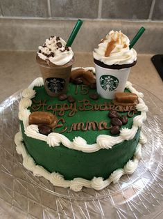 Brilliant Picture of Starbucks Birthday Cake Birthday Cake With Photo, Beautiful Birthday Cakes, Birthday Cakes For Women, Birthday Ideas, 13th Birthday, Winter Birthday, Birthday Games, Card Birthday, Birthday List