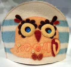 Who doesn't love a retro looking owl tea cozy? Created by Ragbag from boiled recycled wool blankets and sweaters, they are available at Gift of Art in London, Ontario, Canada.
