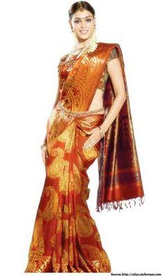 kerala wedding saree Kerala Wedding Saree, Saree Wedding, Kanjivaram Sarees, Silk Sarees, Indian Beauty Saree, Indian Sarees, Traditional Sarees, Traditional Wedding, Saree With Belt
