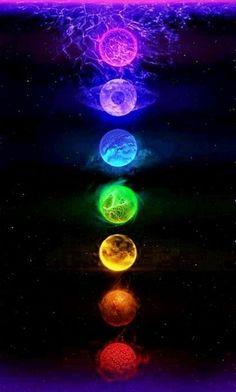 Chakra Balancing - Healing The Seven Chakras - Reiki Temple Planets Wallpaper, Rainbow Wallpaper, Galaxy Wallpaper, Iphone Wallpaper, Chakra Art, Reiki Chakra, Chakra Healing, Kundalini Meditation, Meditation Art