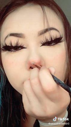 Cute Makeup Looks, Makeup Eye Looks, Pretty Makeup, Edgy Makeup, Grunge Makeup, Kawaii Makeup, Alternative Makeup, Makeup Designs, Aesthetic Makeup