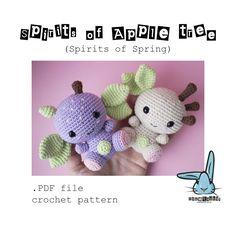 Spirits of Apple tree. Spirits of Spring - amigurumi crochet pattern. PDF digital file. Language - English. by BlueRabbitLV on Etsy https://www.etsy.com/listing/508944456/spirits-of-apple-tree-spirits-of-spring