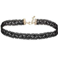 Miss Selfridge Lace Choker ($11) ❤ liked on Polyvore featuring jewelry, necklaces and black