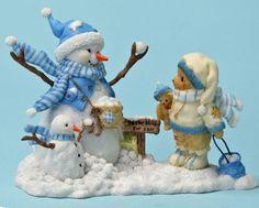 "Correy ""Prepare For A Fun Filled Season"" Christmas Vases, Christmas Love, Christmas Pictures, Boyds Bears, Teddy Bears, Clay Bear, Charlie Bears, Winter, Snowman"