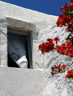 Naxos, Greece Beautiful Islands, Beautiful Images, Naxos Greece, Ghost And Ghouls, Need A Vacation, Window View, World Photography, Greek Islands, My Favorite Color
