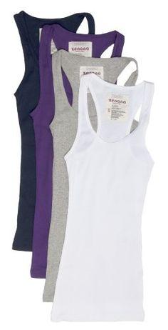 4 Pack Zenana Women's Ribbed Tank Top Small White, H Gray, Navy, Purple Zenana Outfitters http://www.amazon.com/dp/B00HDZLY6E/ref=cm_sw_r_pi_dp_8VvMwb0WDMBEE