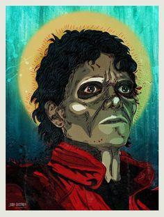 Michael Jackson in Thriller by Jugo Gastrico