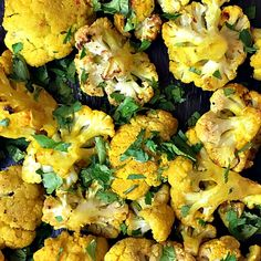 Today's Skinnytaste's Turmeric-Roasted Cauliflower is delightyfully delicious, roasted to perfection!