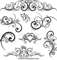 Clipart of Vector scroll ornament k6766151 - Search Clip Art, Illustration Murals, Drawings and Vector EPS Graphics Images - k6766151.eps