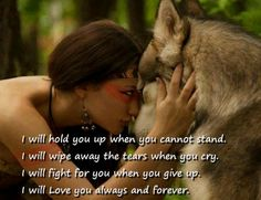 I will hold you up when you cannot stand .  I will wipe away the tears when you…