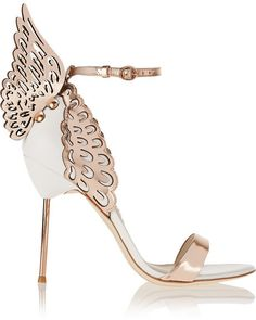 Evangeline metallic and patent-leather Shoes #shoes #metallic #leather #sophiawebster