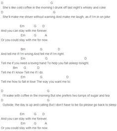 Ed Sheeran - Cold Coffee Chords Capo 4
