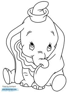 Nice Coloring Page Dumbo that you must know, You?re in good company if you?re looking for Coloring Page Dumbo Cute Coloring Pages, Cartoon Coloring Pages, Disney Coloring Pages, Coloring Pages To Print, Adult Coloring Pages, Coloring Books, Frozen Coloring, Disney Dumbo, Disney Art