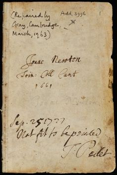 isaac newton notebook
