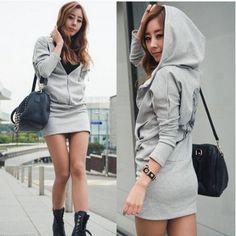 Vestido Manga Longa Com Touca  modafeminina  estilo  lookdodia  inspiração   estilofeminino   da61f7a8250