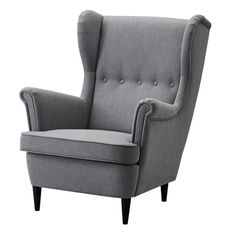 Cocktailsessel blau  STRANDMON Wing chair, Djuparp dark green | Living rooms, Room and ...