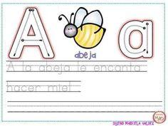 Completo abecedario guiado, repasamos Grafomotricidad - Imagenes Educativas
