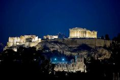 Acropolis, Lycabetous Hill and the Odeon of Herodes Atticus in Athens - Wonderful Greece