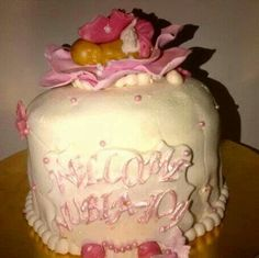 Newborn baby cake