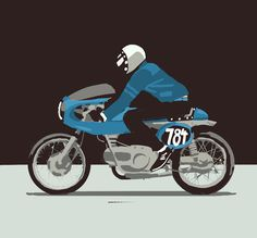 Cafe Racer illustration - James  Duveen | www.caferacerpasion.com