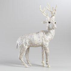 White Canvas Reindeer