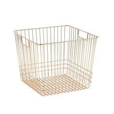 Savoy Storage Brass Basket - Large