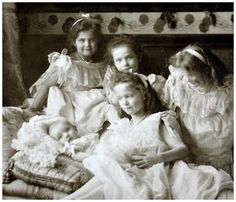 The Grand Duchesses with their little brother