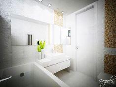 Malá kúpeľňa v bielom dizajne... Viac náhľadov tejto vizualizácie na: Kupelnovy-manual.sk