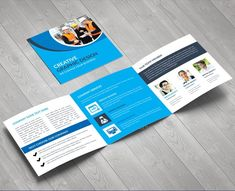 Elegant Corporate Square Tri-Fold Brochure Design Template 001615