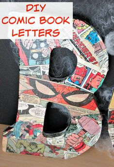 b36bd0029eec DIY Comic Book Letters - If you re looking to add a little more superhero