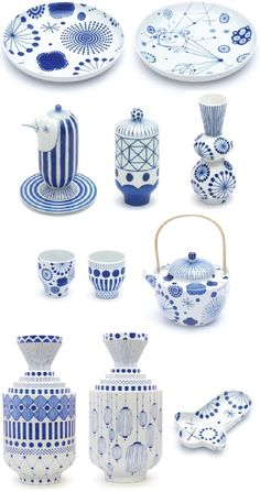 The best dining chairs ever A playful collection of blue and white ware designed by Jaime Hayon. luxury design, high end furniture, luxury furniture, designer furniture Ceramic Tableware, Porcelain Ceramics, Ceramic Pottery, White Ceramics, Porcelain Doll, Pottery Painting, Ceramic Painting, Ceramic Art, Doll Painting