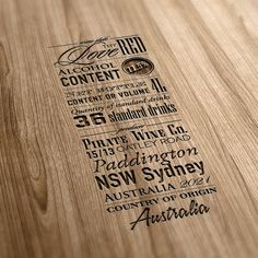 Typography in packaging, on Behance