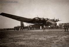 The giant transport aircraft Messerschmitt 323 (Messerschmitt Me 323s Gigant) landed a German military equipment to Bulgarian airport , probably April - May 1944
