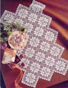 Advertise You Crochet Business On Social Media Crochet Art, Filet Crochet, Crochet Motif, Crochet Doilies, Crochet Table Runner, Crochet Tablecloth, Vintage Crochet Patterns, Yarn Thread, Crochet Squares
