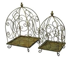Birdcage Wedding Card Box Holder Set / Wishes / by SophieAtelier, $89.00