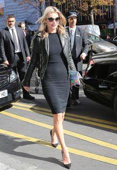 Little black dress & leather jacket - check!