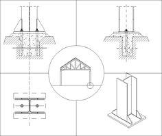 Steel Structure Details V6 – CAD Design | Free CAD Blocks,Drawings,Details